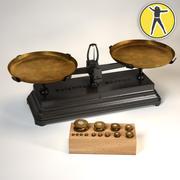 antiques balance scales 3d model