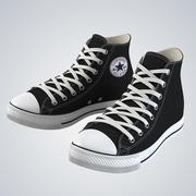 高帮橡胶鞋 3d model