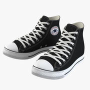 High Top Rubber Shoes 3d model