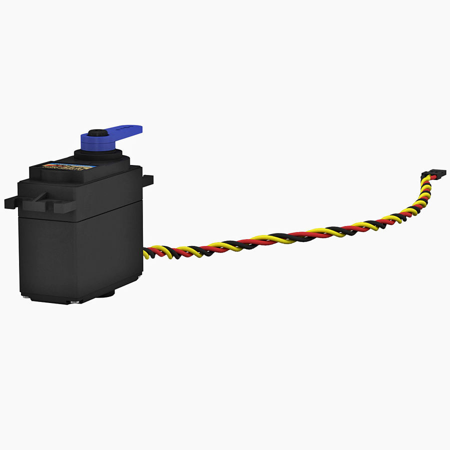 Servo Motor royalty-free 3d model - Preview no. 4