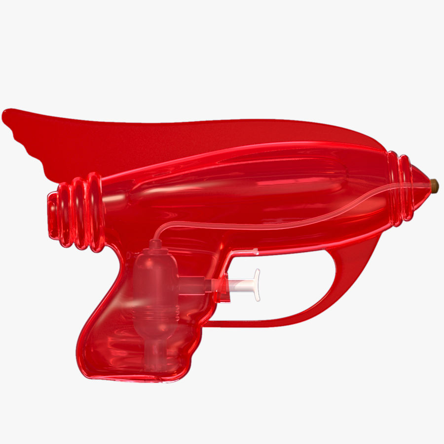 Retro Water Pistol royalty-free 3d model - Preview no. 4
