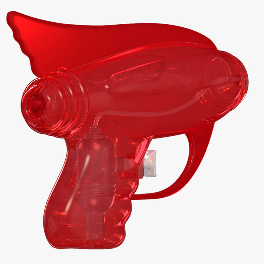 Retro Water Pistol royalty-free 3d model - Preview no. 6