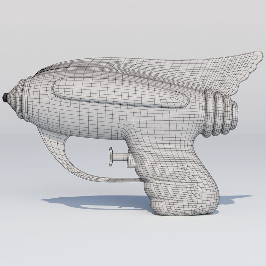 Retro Water Pistol royalty-free 3d model - Preview no. 9