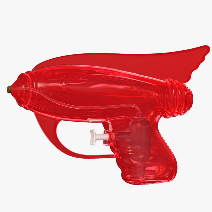 Retro Water Pistol royalty-free 3d model - Preview no. 1