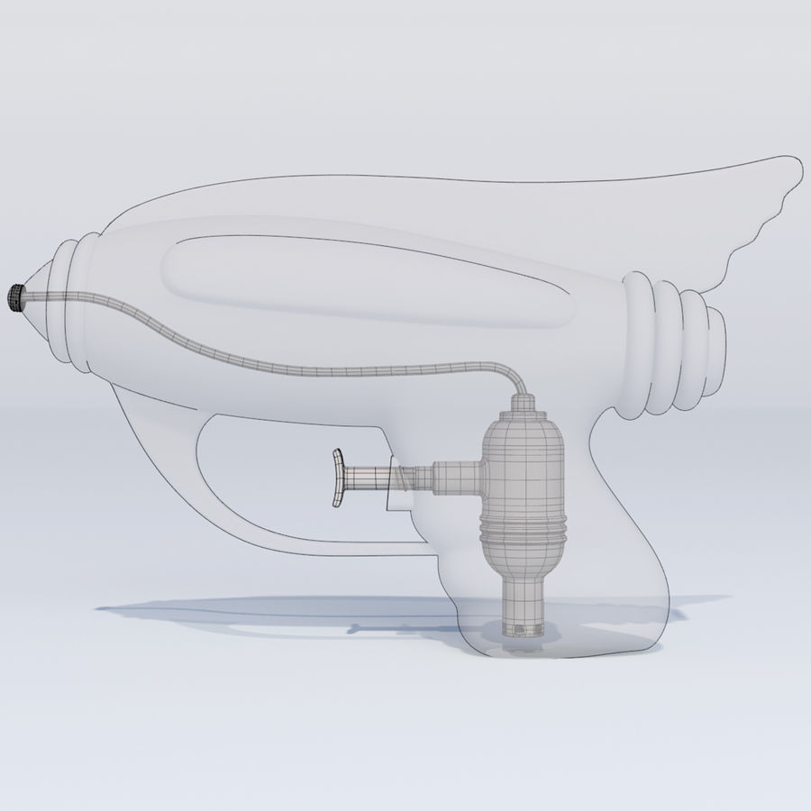 Retro Water Pistol royalty-free 3d model - Preview no. 10