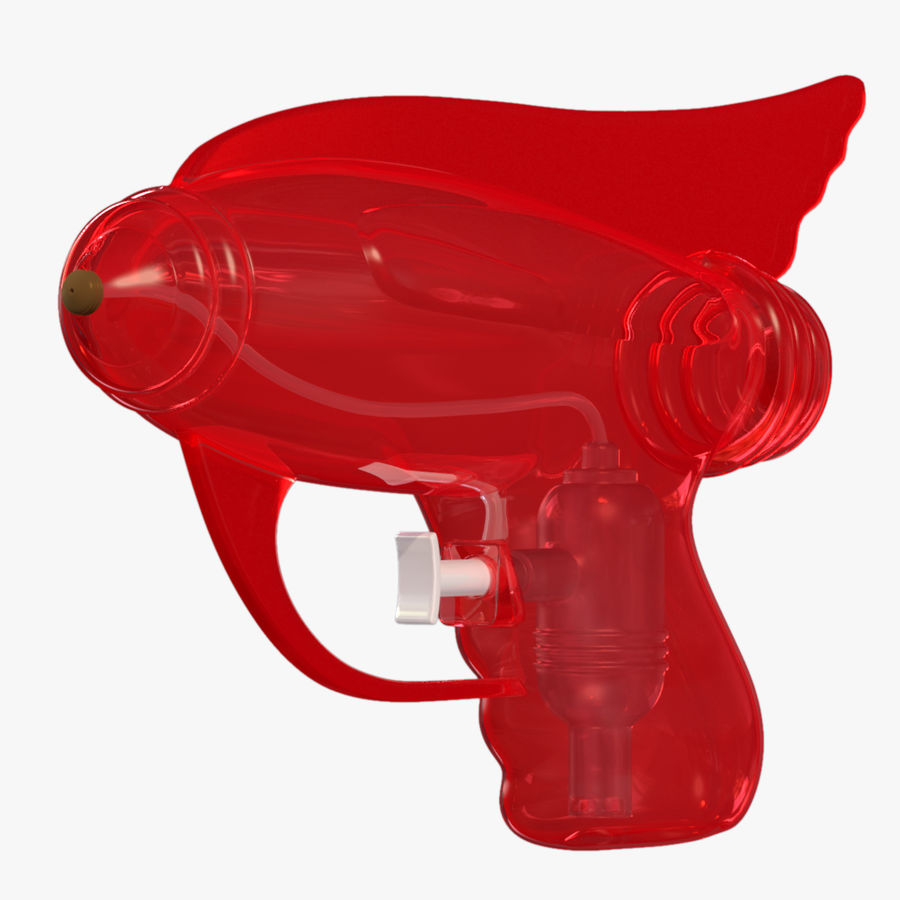 Retro Water Pistol royalty-free 3d model - Preview no. 5