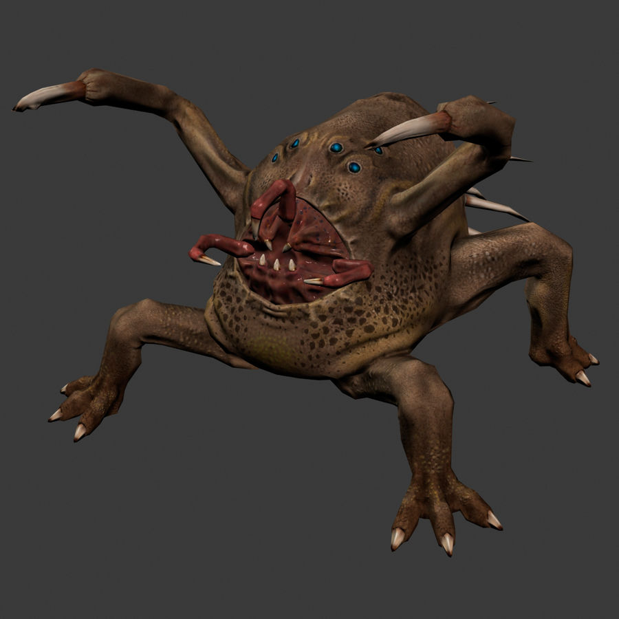 Fat Creature royalty-free 3d model - Preview no. 2