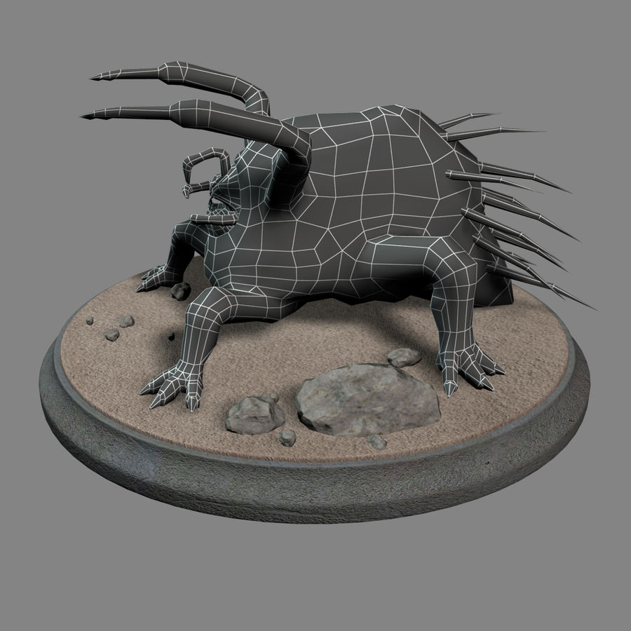 Fat Creature royalty-free 3d model - Preview no. 9