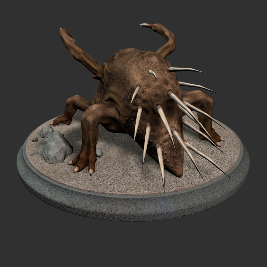 Fat Creature royalty-free 3d model - Preview no. 6