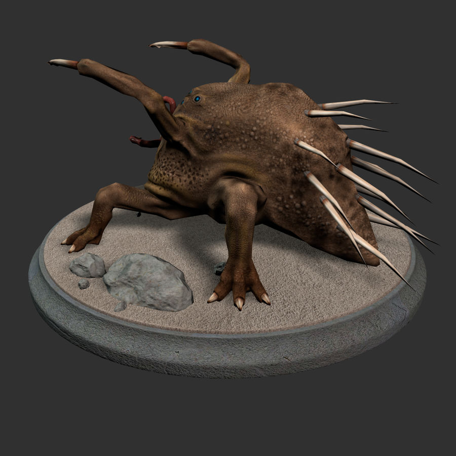 Fat Creature royalty-free 3d model - Preview no. 5