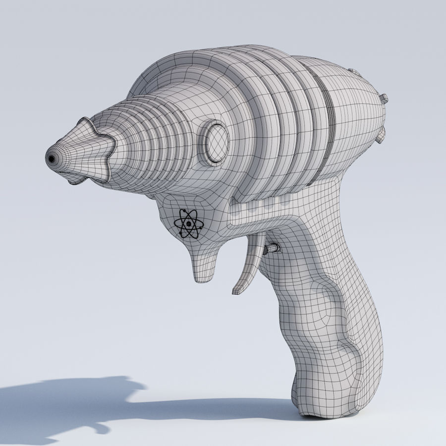 Retro Space Water Gun royalty-free 3d model - Preview no. 10