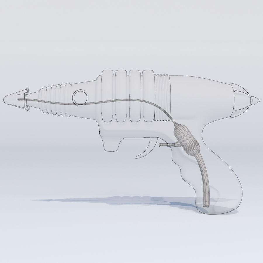 Retro Space Water Gun royalty-free 3d model - Preview no. 8