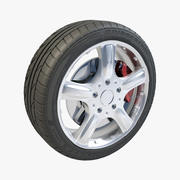 Bridgestone Potenza 5 rayons V02 3d model