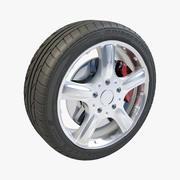 Bridgestone Potenza 5 Spokes V02 3d model