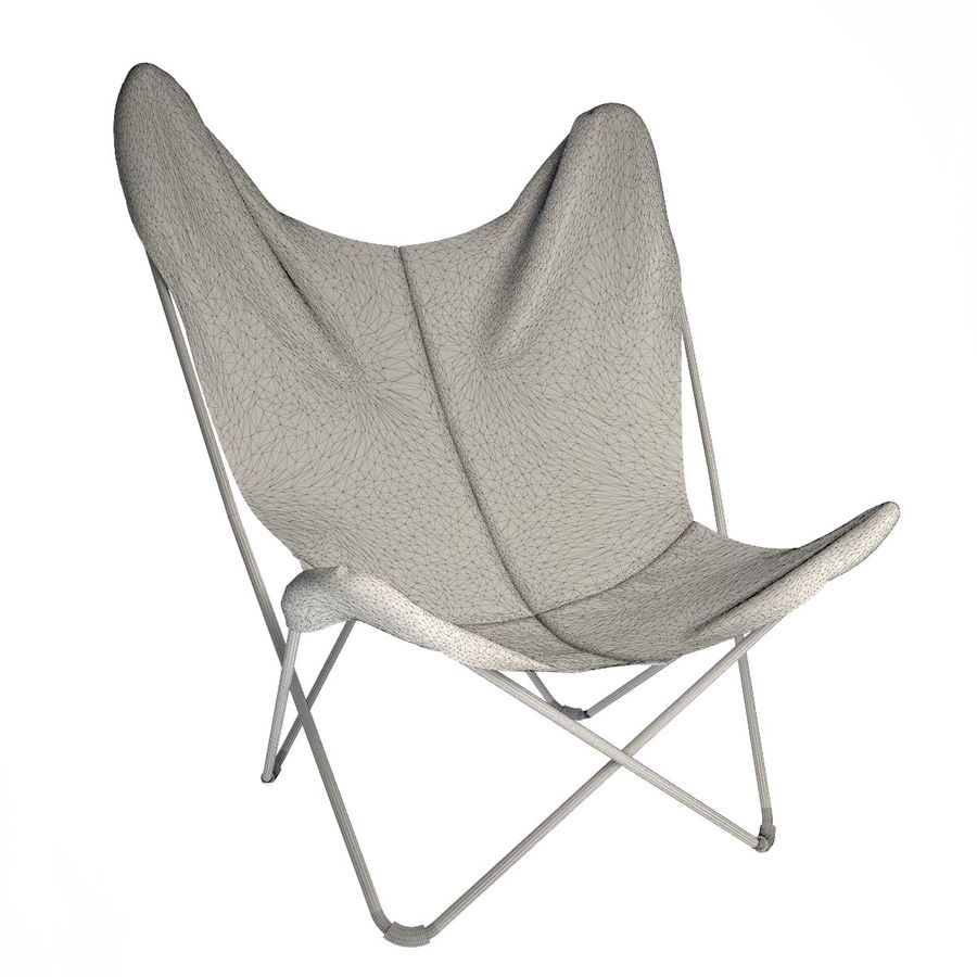 Krzesło motyla royalty-free 3d model - Preview no. 3