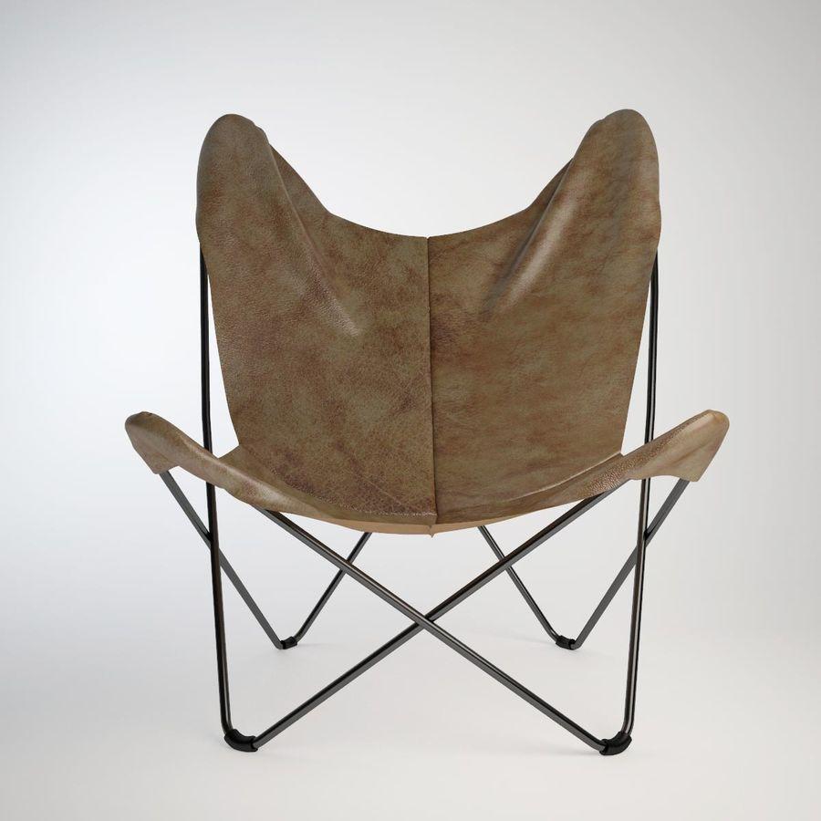 Krzesło motyla royalty-free 3d model - Preview no. 4
