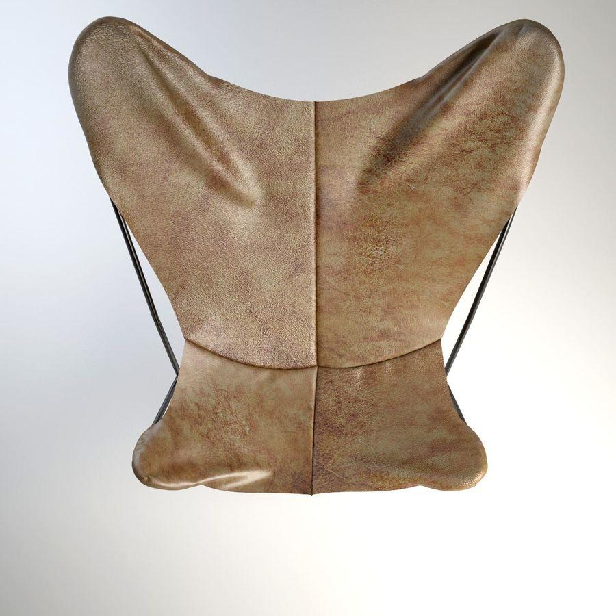 Krzesło motyla royalty-free 3d model - Preview no. 7