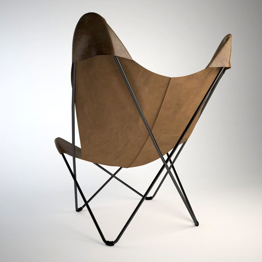 Krzesło motyla royalty-free 3d model - Preview no. 5