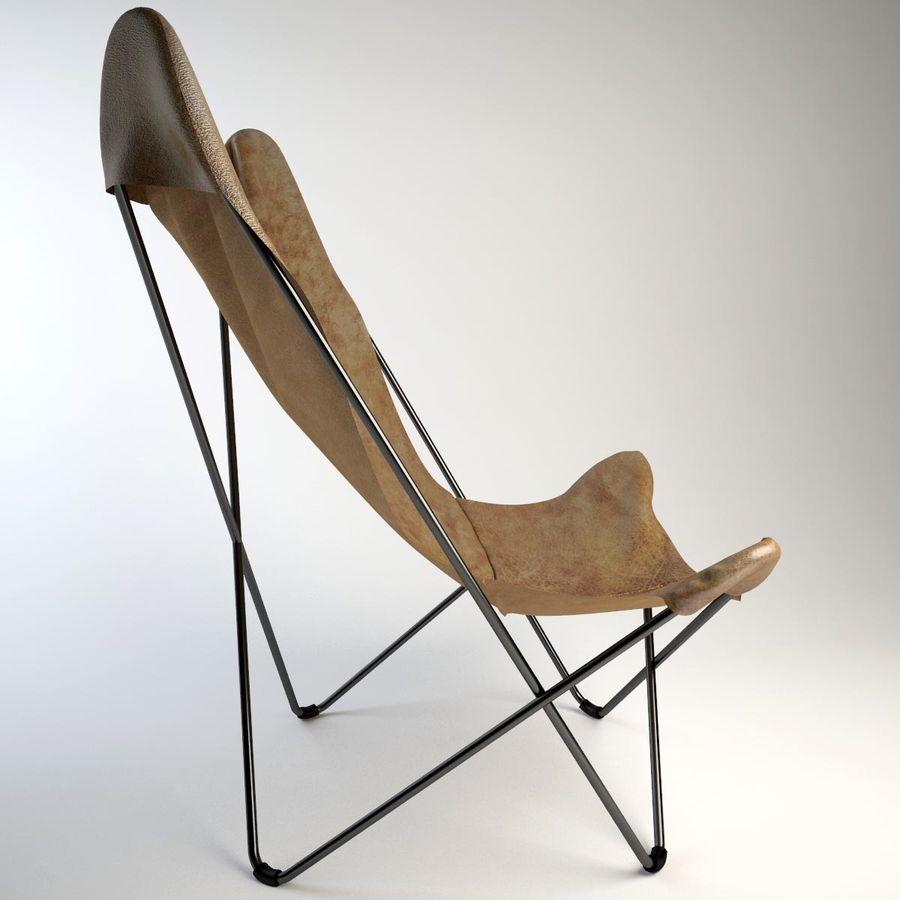 Krzesło motyla royalty-free 3d model - Preview no. 6
