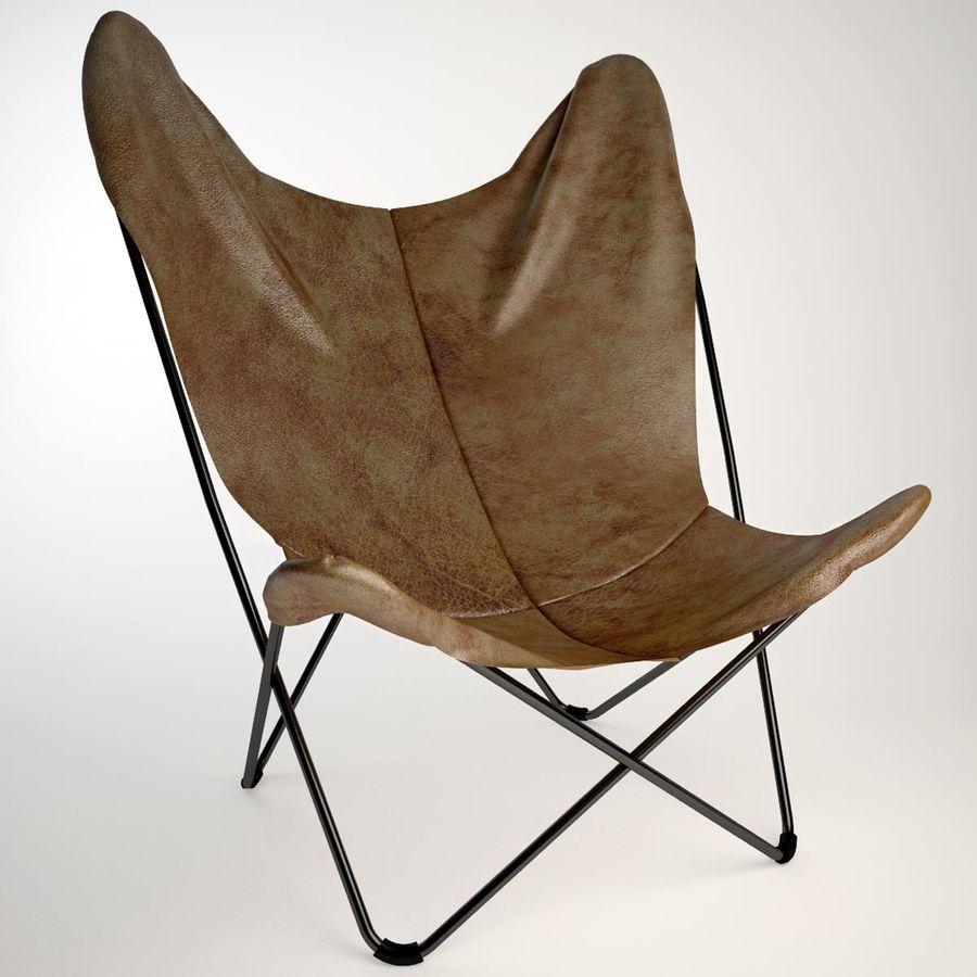 Krzesło motyla royalty-free 3d model - Preview no. 2