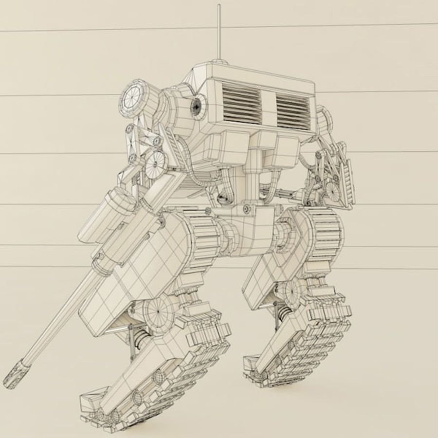 Battle Mech(1) royalty-free 3d model - Preview no. 5