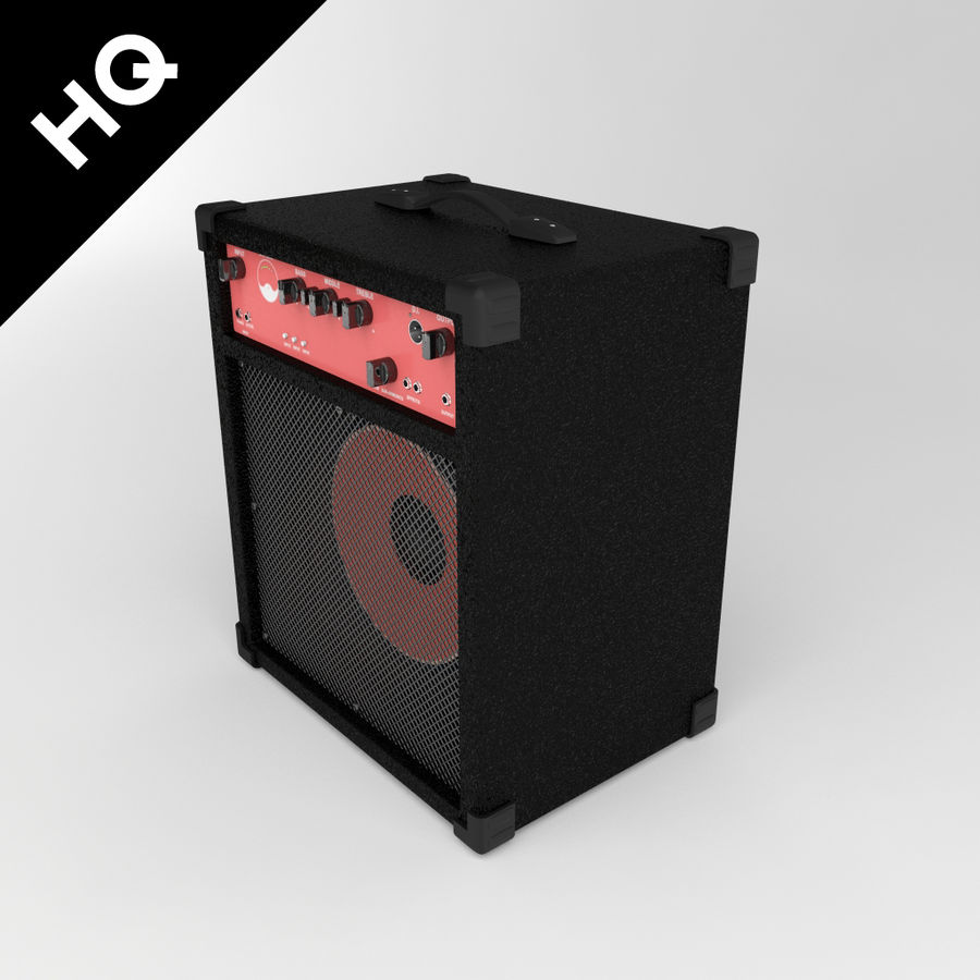 Guitar Amplifier royalty-free 3d model - Preview no. 3