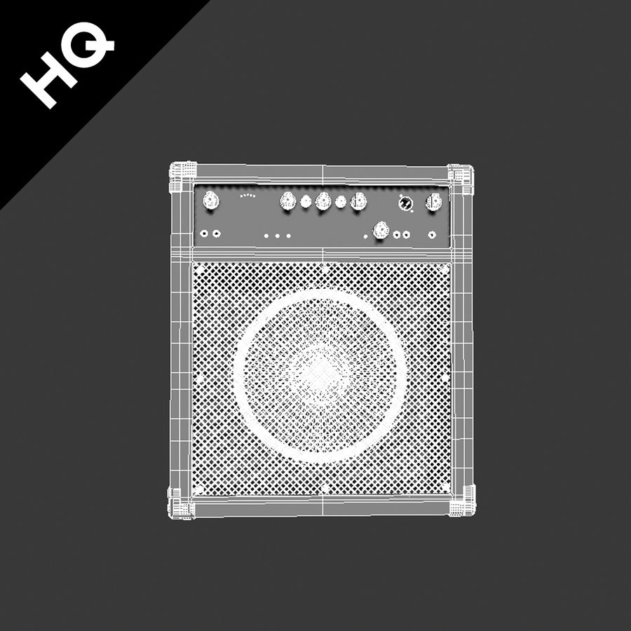 Guitar Amplifier royalty-free 3d model - Preview no. 6