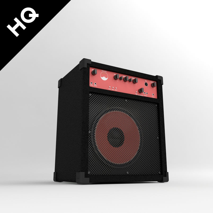 Guitar Amplifier royalty-free 3d model - Preview no. 1
