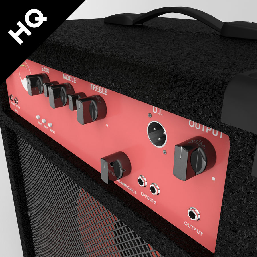 Guitar Amplifier royalty-free 3d model - Preview no. 4