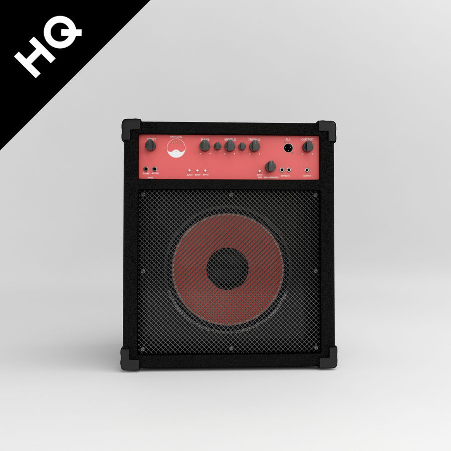Guitar Amplifier royalty-free 3d model - Preview no. 2