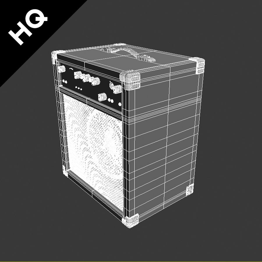 Guitar Amplifier royalty-free 3d model - Preview no. 9