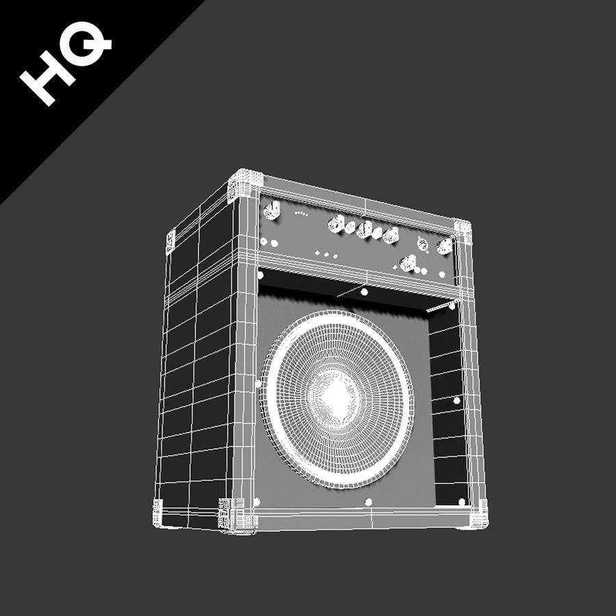 Guitar Amplifier royalty-free 3d model - Preview no. 8