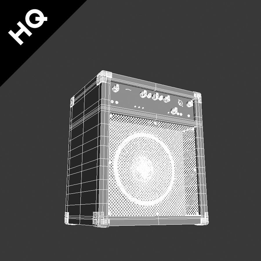 Guitar Amplifier royalty-free 3d model - Preview no. 5