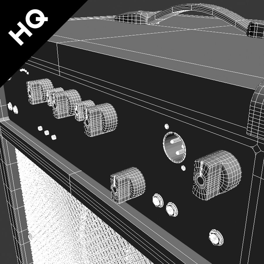 Guitar Amplifier royalty-free 3d model - Preview no. 7