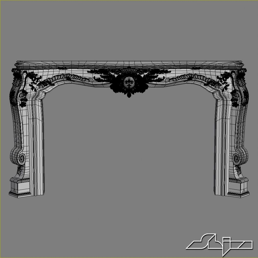 Fireplace Decor royalty-free 3d model - Preview no. 4
