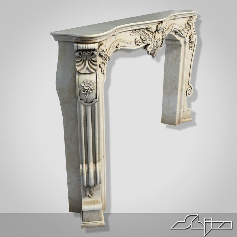 Fireplace Decor royalty-free 3d model - Preview no. 3