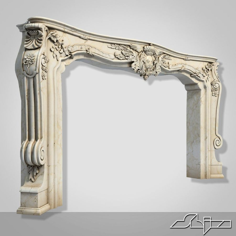 Fireplace Decor royalty-free 3d model - Preview no. 1