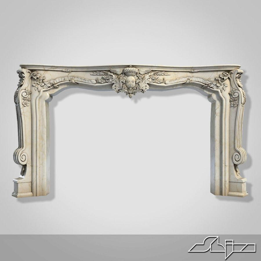 Fireplace Decor royalty-free 3d model - Preview no. 2