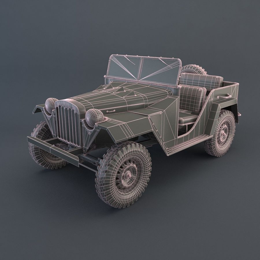 Gaz 67 royalty-free 3d model - Preview no. 7