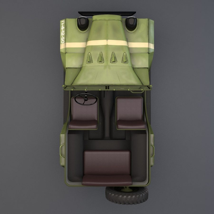 Gaz 67 royalty-free 3d model - Preview no. 5