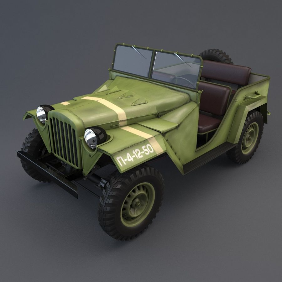 Gaz 67 royalty-free 3d model - Preview no. 2