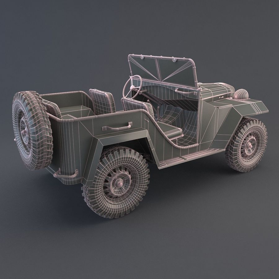 Gaz 67 royalty-free 3d model - Preview no. 8