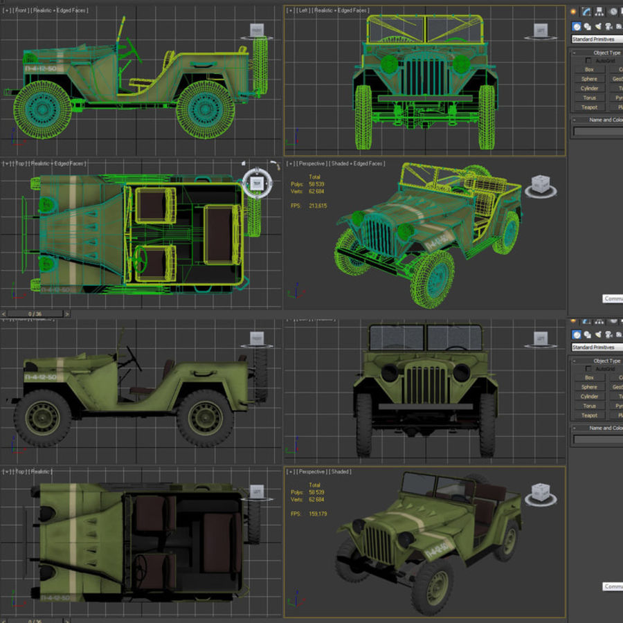 Gaz 67 royalty-free 3d model - Preview no. 11