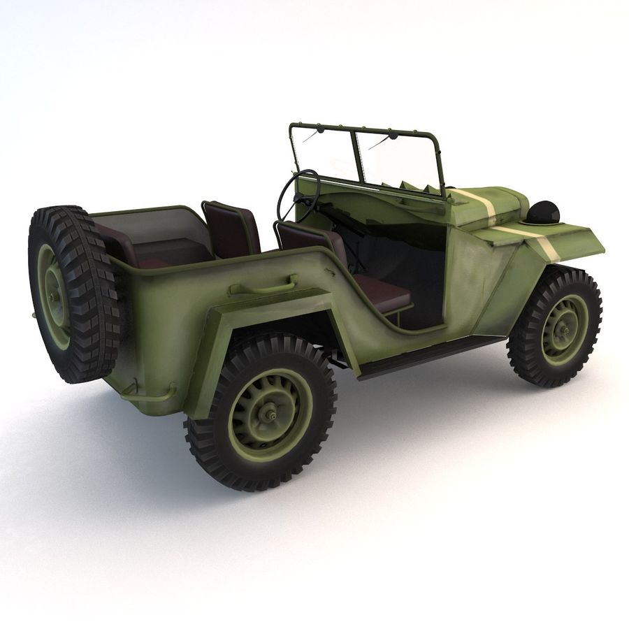 Gaz 67 royalty-free 3d model - Preview no. 4