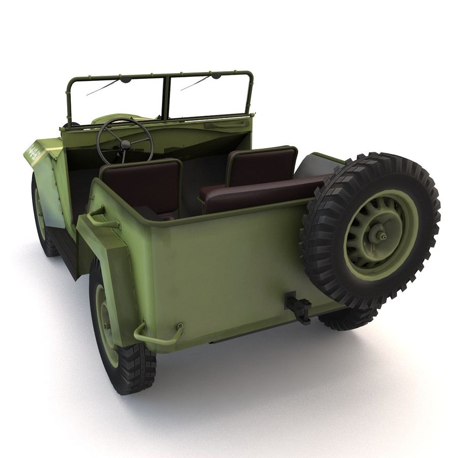 Gaz 67 royalty-free 3d model - Preview no. 3