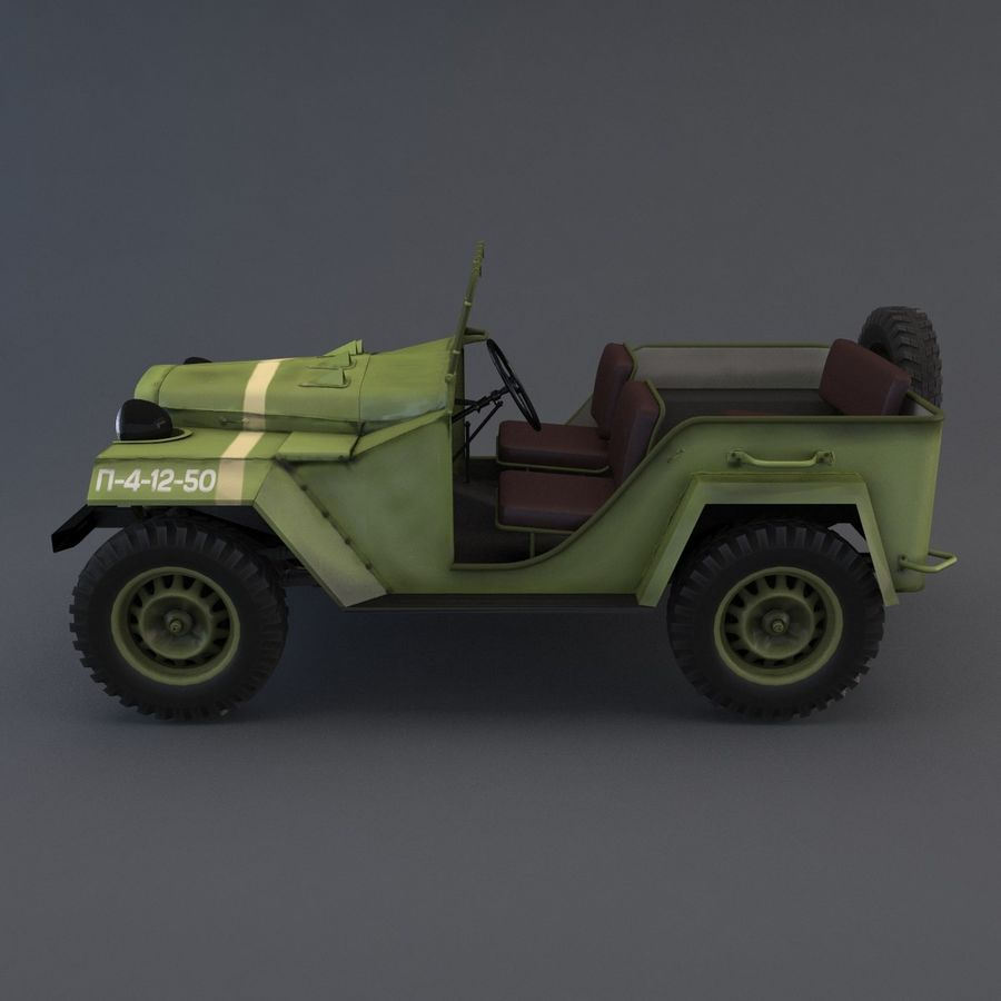 Gaz 67 royalty-free 3d model - Preview no. 6