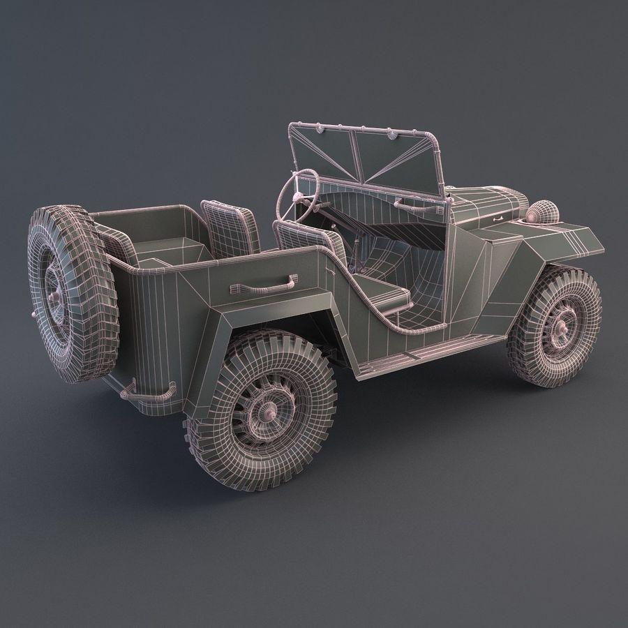 Gaz 67 royalty-free 3d model - Preview no. 7
