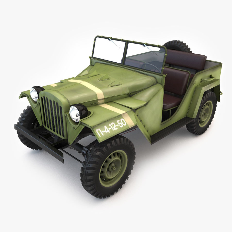 Gaz 67 royalty-free 3d model - Preview no. 1