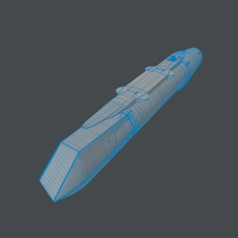 AN / AAQ-33狙击手XR高级瞄准吊舱 royalty-free 3d model - Preview no. 12