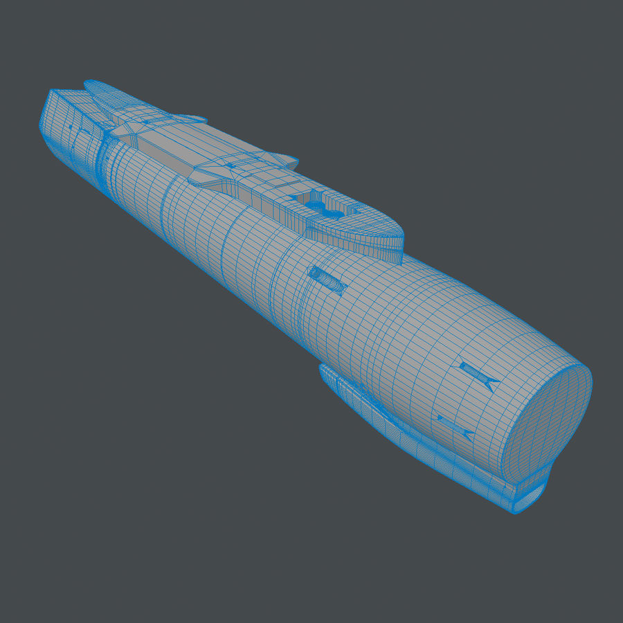 AN / AAQ-33狙击手XR高级瞄准吊舱 royalty-free 3d model - Preview no. 13
